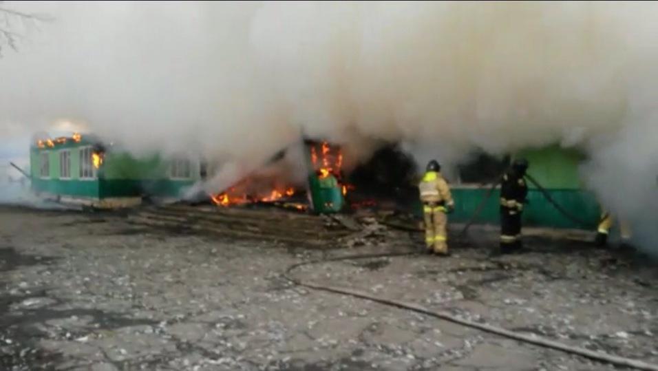 Ныгдинская школа горела вАларском районе Иркутской области утром 19апреля