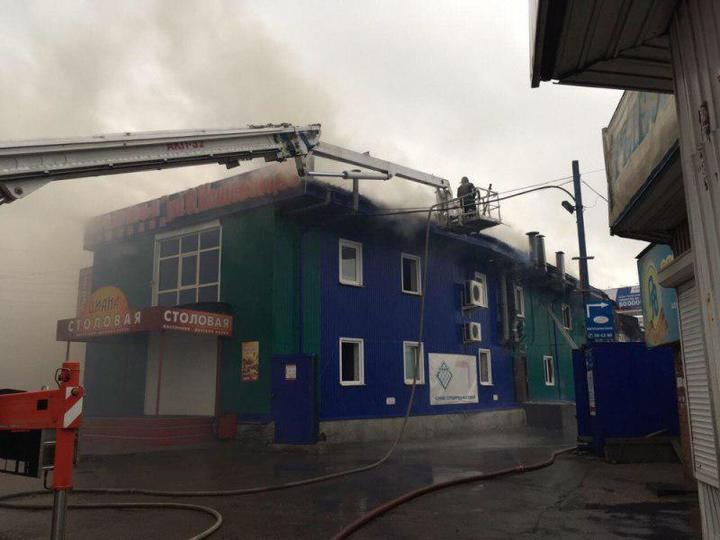 Пожарные отстояли кафе наулице Олега Кошевого вИркутске